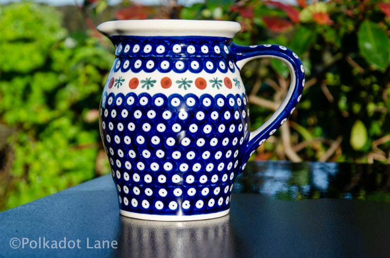 Polish Pottery Fern Spot Jug