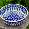 Peacock Leaf Salad Bowl by Ceramika Manufaktura