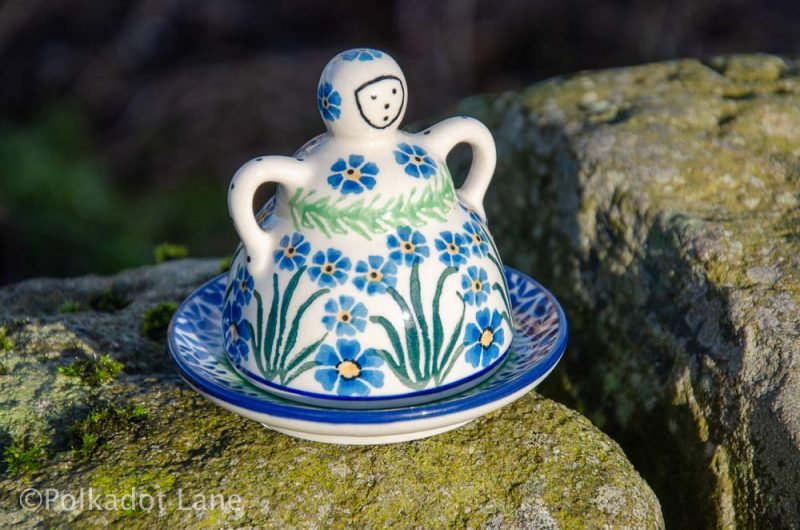 Forget Me Not Small Cheese Lady by Ceramika Artystyczna