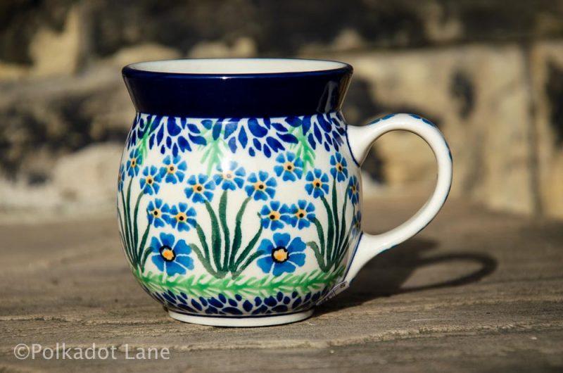 Forget Me Not Small Mug Ceramika Artystyczna from Polkadot Lane UK