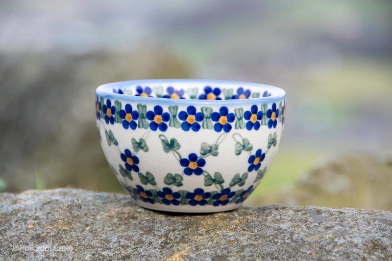 Polish Pottery Dip Bowl Unikat from Polkadot Lane UK