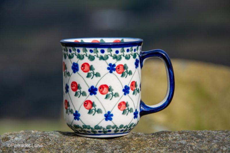 Red Apple Tea Mug Ceramika Millena from Polkadot Lane UK