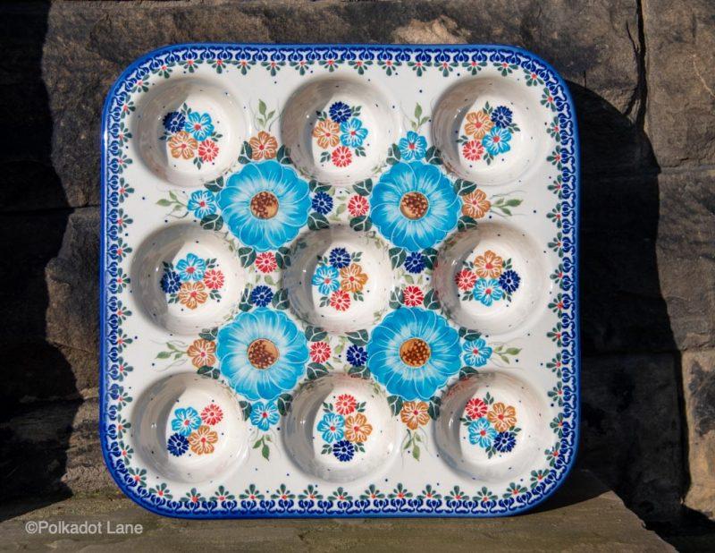 Polish Pottery Unikat Yorkshire Pudding Dish Ceramika Andy