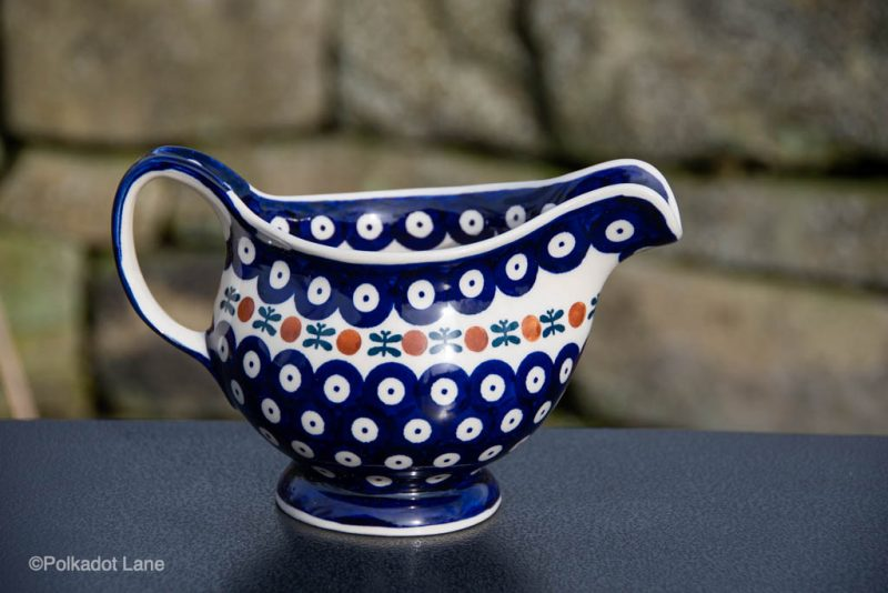 Fern Spot Polish Pottery Gravy Jug from Polkadot Lane UK