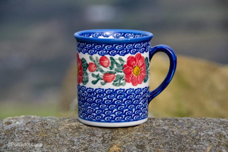 Andy Unikat Tea Mug Medium Size from polkadot Lane Polish Pottery UK