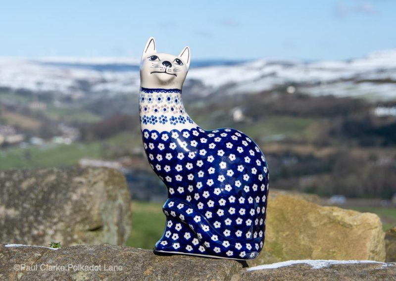 Ceramic Cat from Polkadot Lane Polish Pottery