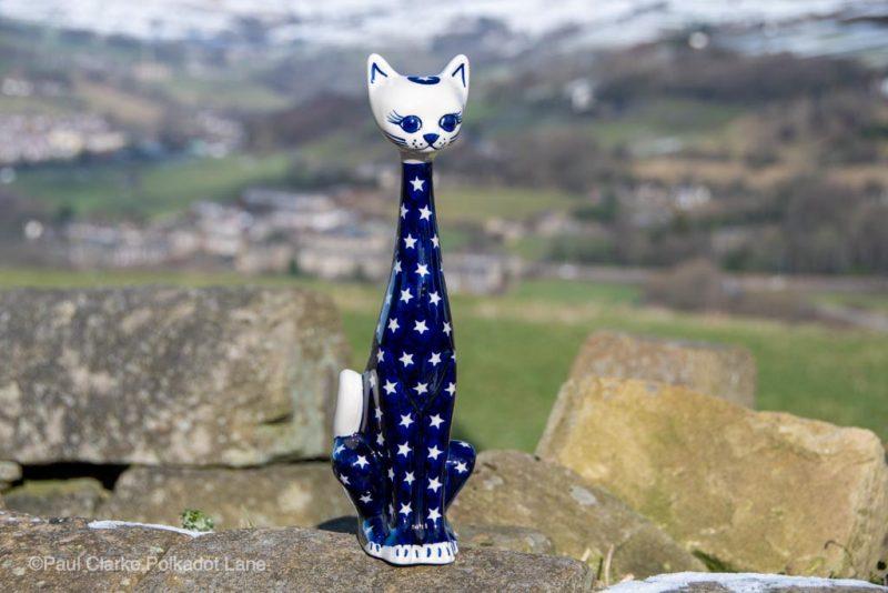 Polish Pottery Cat Star Pattern from Polkadot Lane UK