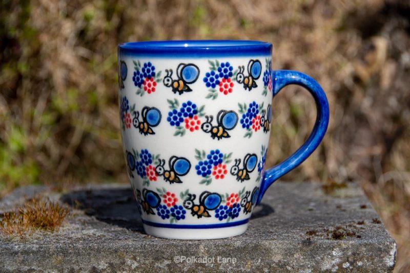 Bumble Bee Pattern Mug by Ceramika Andy Polish Pottery
