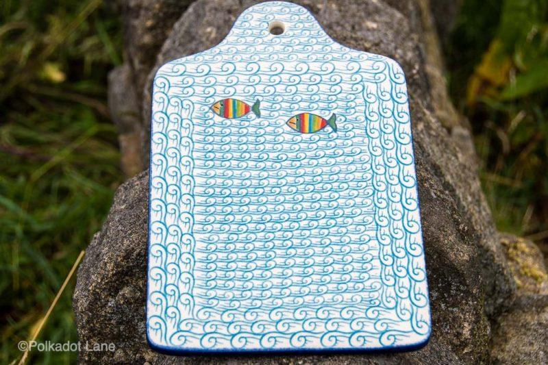 Fish in the Chopping Board Ceramika Artystyczna
