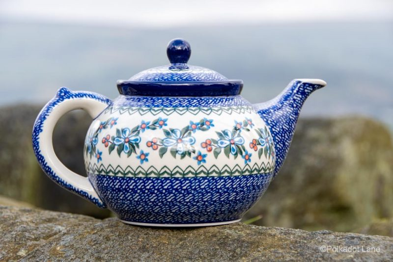 Polish Pottery Flower Berry Teapot for four by Ceramika Artystyczna
