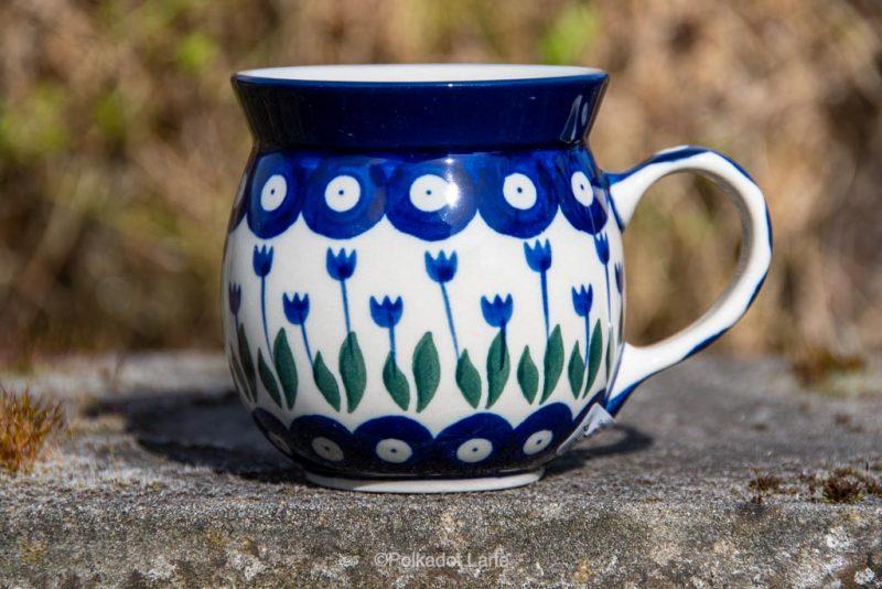 Flower Spot Small Mug by Ceramika Artystyczna Polish Pottery