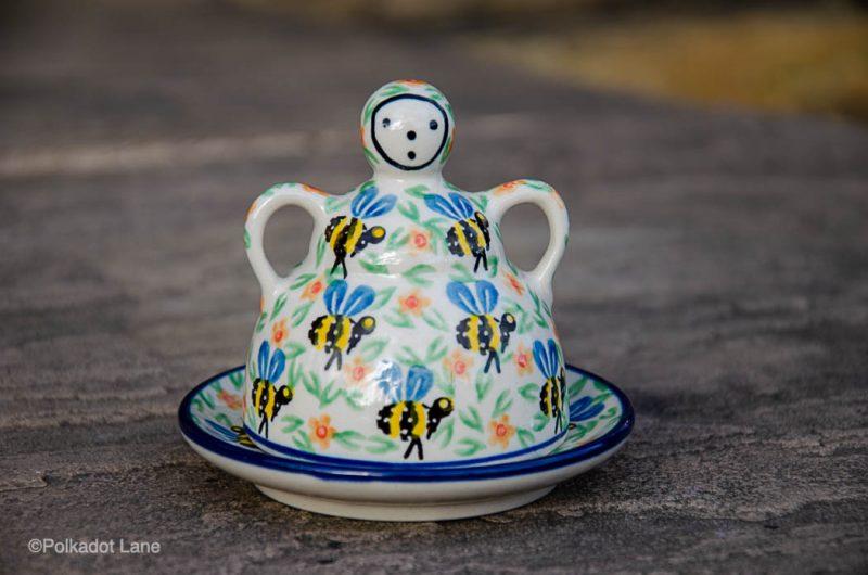 Polish Pottery Cheese Lady from Polkadot Lane UK