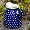 Blue Spotty Large Jug by Ceramika Manufaktura Polish Pottery