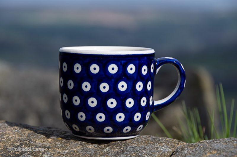 Blue Spotty Tea Mug by Ceramika Manufaktura