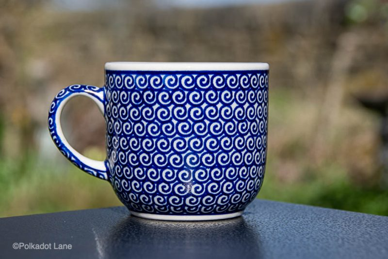 Blue Swirl Tea Mug by Ceramika Manufaktura