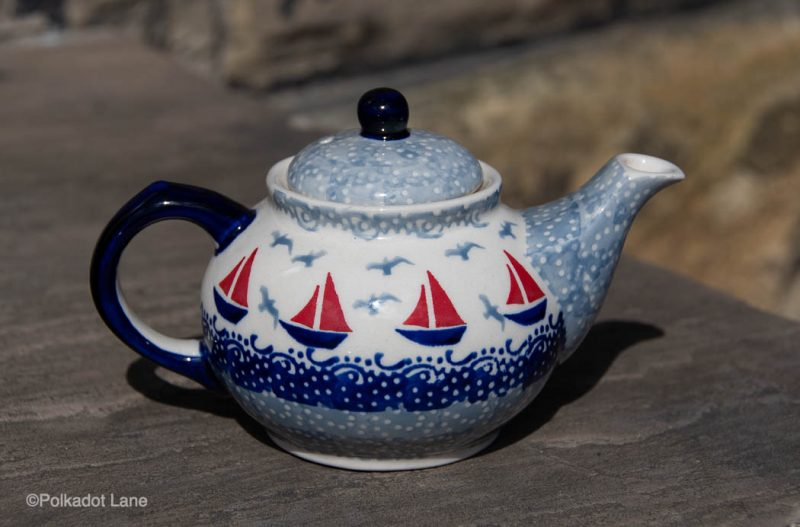 Teapot fort One Person Boats Pattern by Ceramika Manufaktura