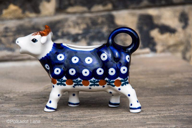 Fern Spot Cow Shaped Jug by Ceramika Manufaktura