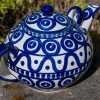 Circle and Swirl Extra Large Teapot by Ceramika Manufaktura Polish Pottery UK
