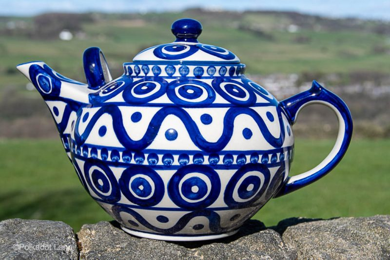 Circle and Swirl Unikat Extra Large Teapot by Ceramika Manufaktura Polish Pottery