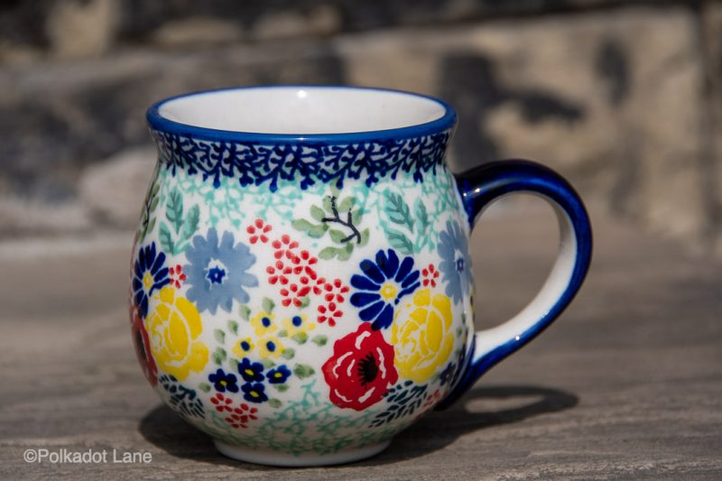 Mug Flower Garden by Ceramika Manufaktura Polish Pottery