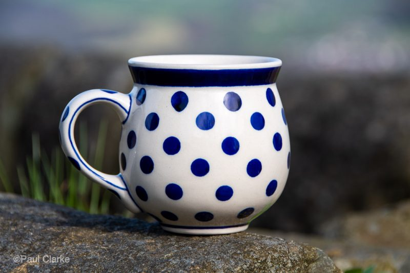 Polish Pottery Light Spotty Mug by Ceramika Manufaktura