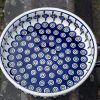 Polish Pottery Round Dish with Handles by Ceramika Manufaktura