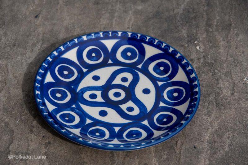 Side Plate Circle and Swirl Pattern by Ceramika Manufaktura