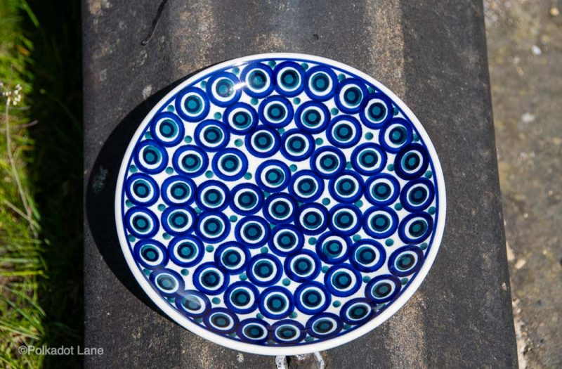 Side Plate Circles pattern by Ceramika Manufaktura Polish Pottery