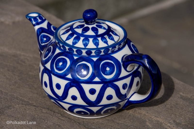 Circle and Swirl Unikat Teapot for Two from Polkadot Lane UK