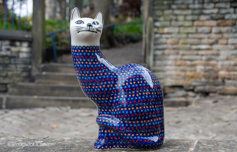 Neon pattern Large Cat by Ceramika Manufaktura