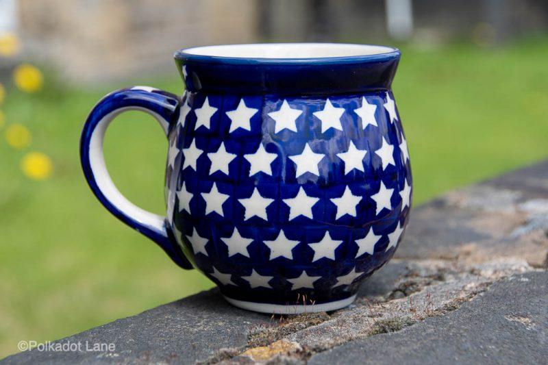 Star Pattern Large Mug by Ceramika Manufaktura