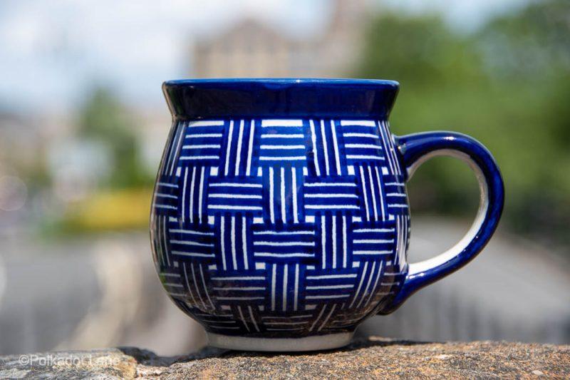 Weave Pattern Large Mug by Ceramika Manufaktura Boleslawiec
