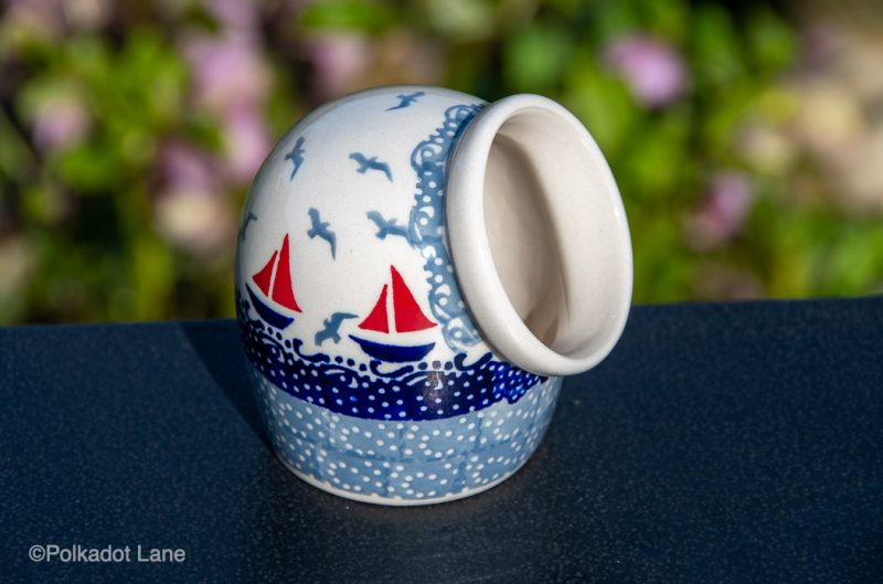 Boats Pattern Salt Pig by Ceramika Manufaktura from Polkadot Lane UK