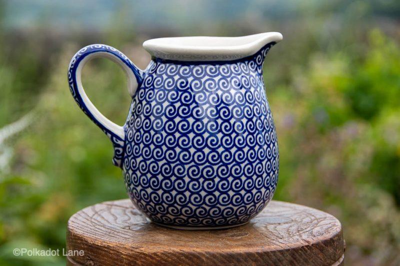 Blue Swirl Small Jug by Ceramika Manufaktura