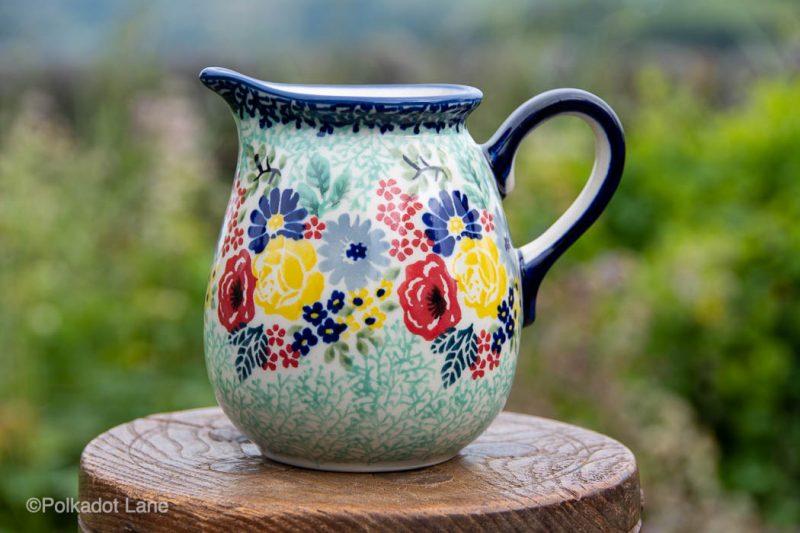 Flower Garden Small Jug unikat by Ceramika Manufaktura