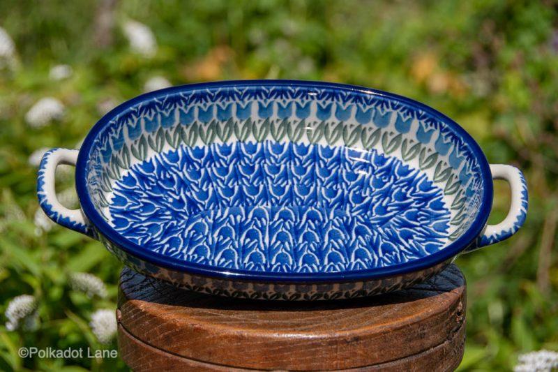 Small serving Dish Ceramika Artystyczna Polish Pottery