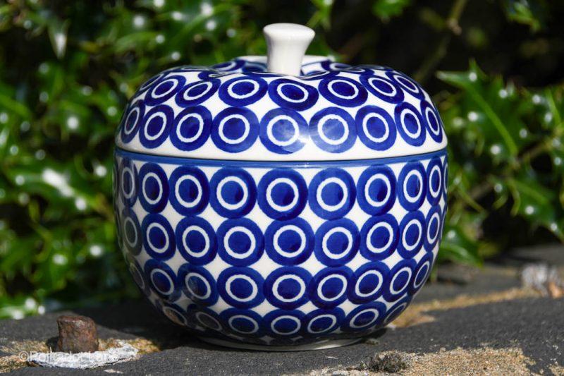 Polish Pottery Circles pattern Apple Baker by Ceramika Artystyczna
