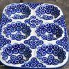 Circles Pattern Yorkshire pudding Dish by Ceramika Artystyczna Polish Pottery