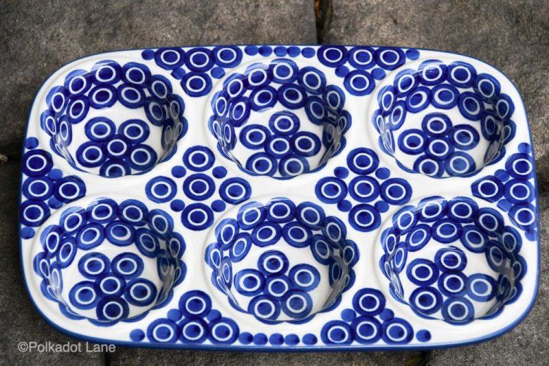 Polish Pottery Yorkshire Pudding Dish Circles Pattern by Ceramika Artystyczna
