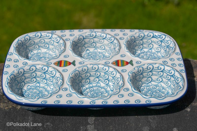 Polish Pottery Fish in the Sea Yorkshire pudding Dish by Ceramika Artystyczna