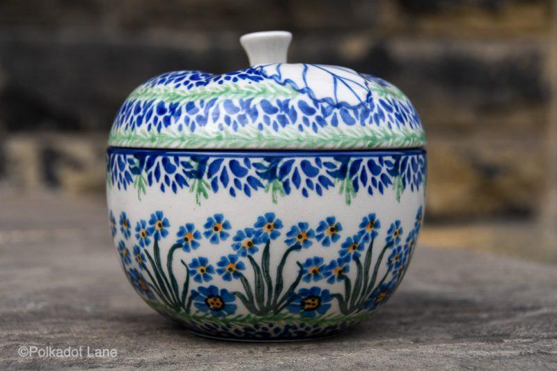 Forget Me Not Apple Baker by Ceramika Artystyczna Polish Pottery