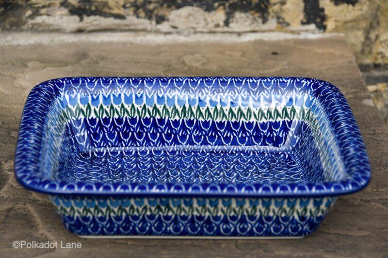 Blue Tulip Medium Size Oven Dish by Ceramika Artystyczna