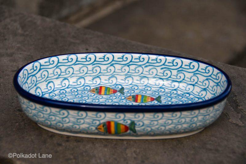 Fish in the Sea Small Serving Dish by Ceramika Artystyczna