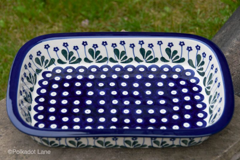 Flower Spot Garden Oven Dish by Ceramika Artystyczna