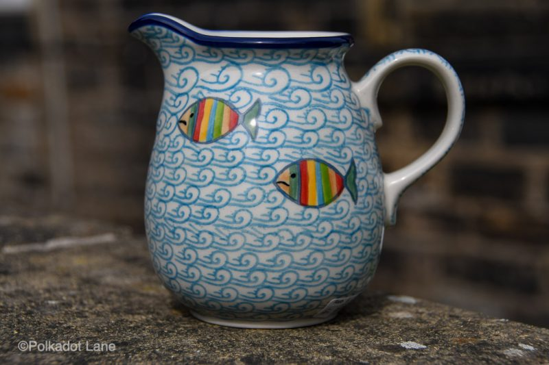 Fish in the Sea Pattern Small Jug by Ceramika Artystyczna Polish Pottery