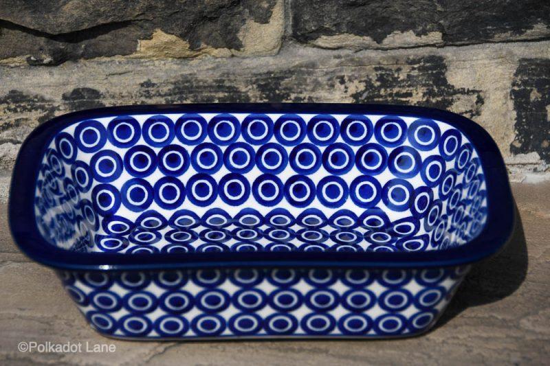 Circles pattern Small Oven Dish by Ceramika Artystyczna