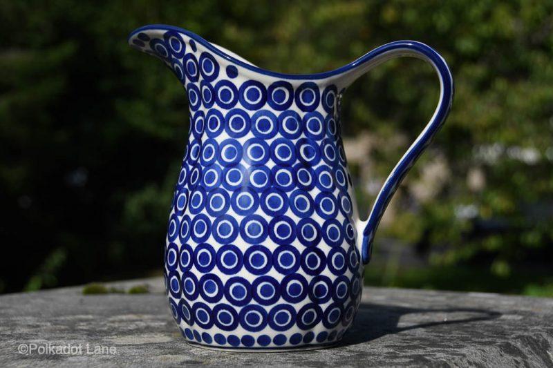 Polish Pottery Circles Pattern Jug by Ceramika Artystyczna