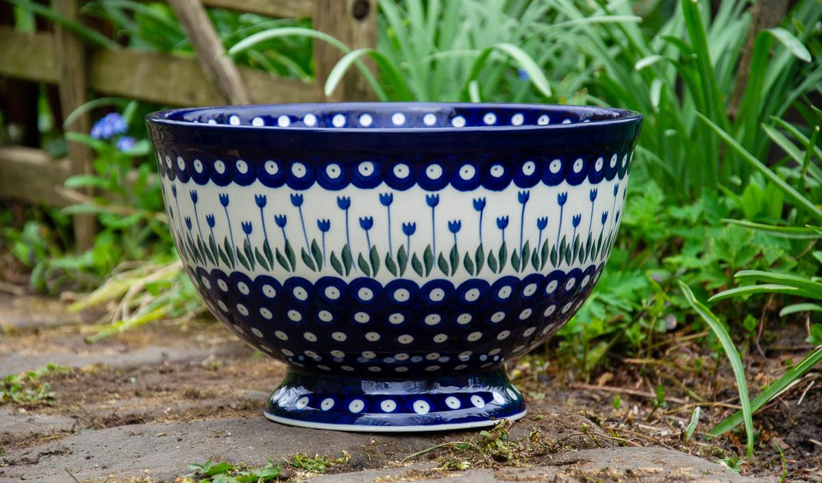 Flower Spot Pattern Large bowl by Ceramika Artystyczna Polish Pottery