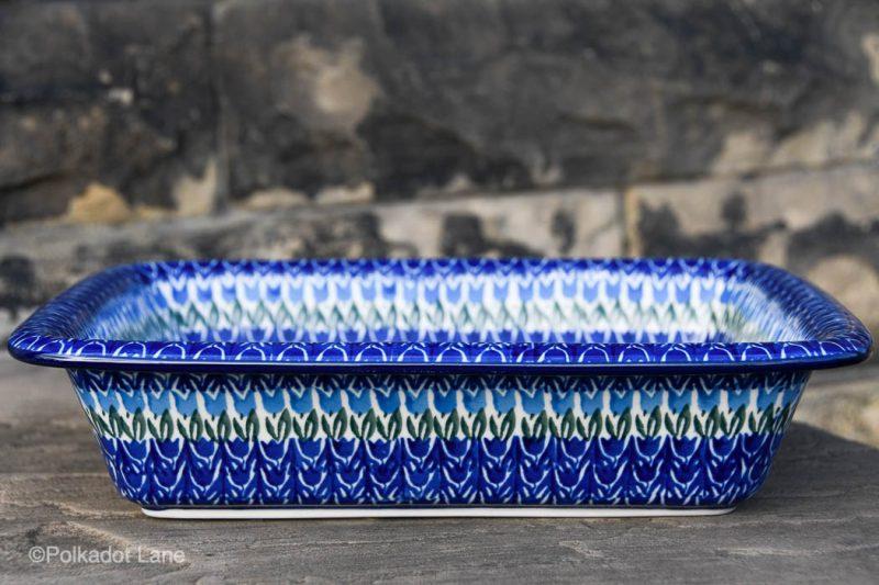 Blue Tulip Large Oven Dish by Ceramika Artystyczna