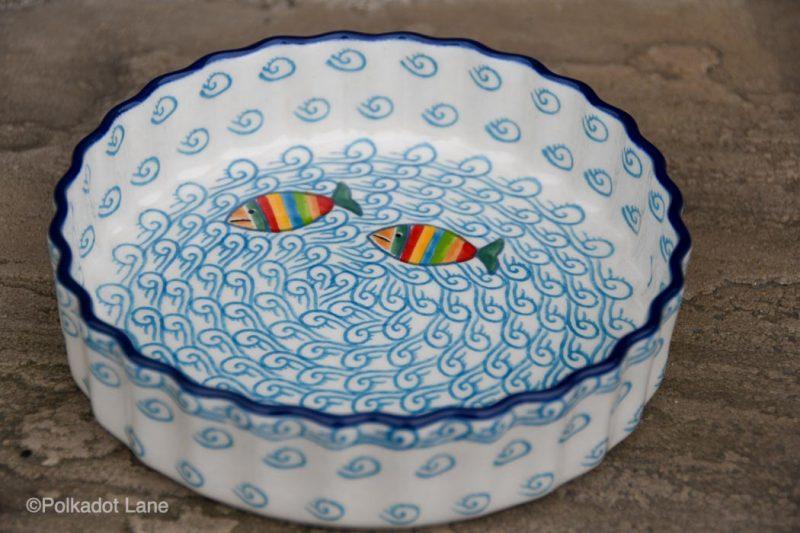 Fish in the Sea Small Flan Dish by Ceramika Artystyczna